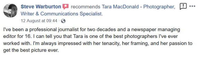 Recommendation, Tara MacDonald,